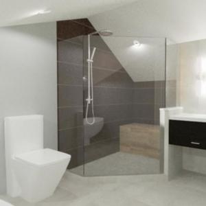 Loft Bathroom Rendering